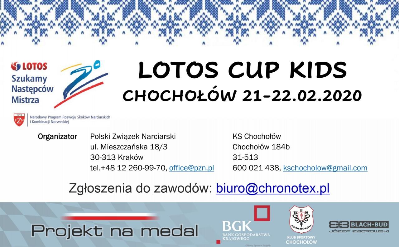 Lotos Cup Kids 21-22.02.2020 - Uwaga zmaina w harmonogramie!