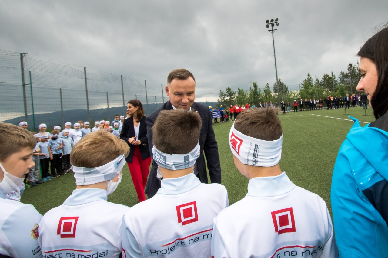 Prezydent Rzeczypospolitej Polskiej Andrzej Duda i Chochołowianie